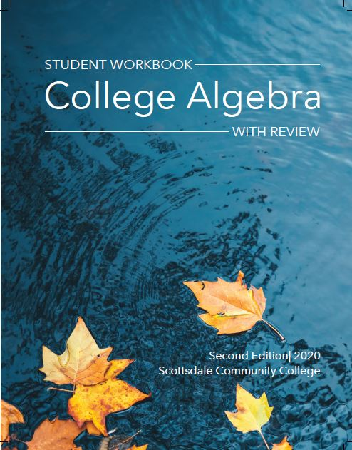 CollegeAlgWithReviewStudentWorkbookCover